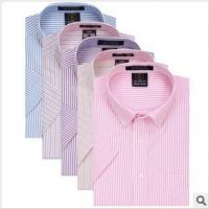 Buy cheap High-end men's shirt business casual shirt striped Short Sleeved Shirt Mens Shirt product