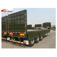 Buy cheap 3 Axles Gooseneck Side Wall Semi Trailer Mechanical Suspension / Air Suspension product