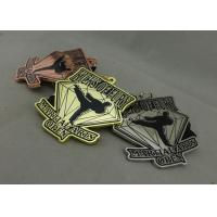Buy cheap Customized Martial Arts Ribbon Medals , Die Casting Enamel Medal With Sublimated Lanyard product