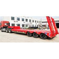 Buy cheap Steel Material 60T -70T Heavy Duty Semi Trailers Low Bed 3 Axles 12R22.5 / 12R20 Tire product