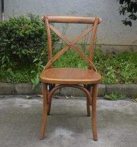 Buy cheap 結婚の使用骨董品は木の十字の背部椅子/余暇の酒保の椅子を見ます product