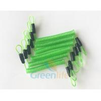 Buy cheap 70CM Long Steel Wire Spring Spiral Coil Cable Transparent Green With Double Cord Loops product