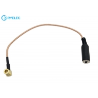 China Female Aux 3.5mm AUX Audio Stereo Jack To Right Angle SMB Female Connector Cable on sale