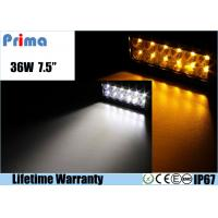 China 36W Remote Control LED Light Bar , Double Row Amber White Led Offroad Light Bar on sale