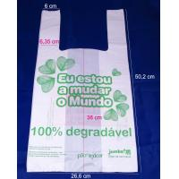 Buy cheap large Biodegradable PE T-Shirt Plastic Bag for grocery , 500mm length product