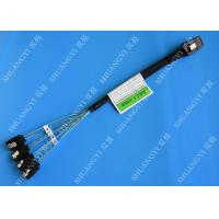 Buy cheap 30 AWG Mini SAS Serial Attached SCSI Cable , 36P SFF 8087 To SATA Breakout Cable With Latch product