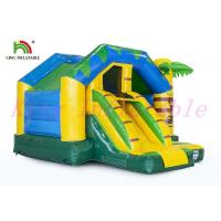 Buy cheap Tropical Wild Animal Theme  Inflatable Jumping Castle With Slide Anti - Ruptured product