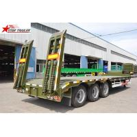 Buy cheap High Capacity Low Loader Semi Trailer, Steel Heavy Duty Low Bed Trailers product