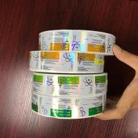 Buy cheap Pharmaceutical 10ml Vial Labels Hologram Laser Roll Labels Stickers Glossy Finish product
