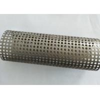 China Strainer Perforated Metal Tube , Galvanized Steel Tube Conical Structural Design on sale