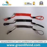 Buy cheap Retention Rope Customized Color/Size W/Loop&Crimp Strong Wire Coil Lanyard product