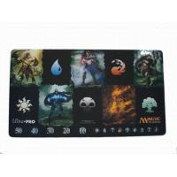 China Environmental Soft Rubber Play Mat , YU-GI-OH Play Mat With Customized Shape on sale