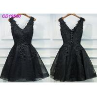 Buy cheap Homecoming Black Lace Cocktail Dress / Beach Sleeveless Short Cocktail Dresses product