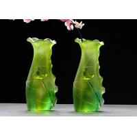 Buy cheap Gradual Green Colored Glaze Vase Family Hall Use Custom Service Available product