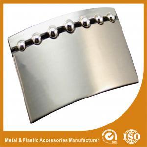Buy cheap 響きのニッケル色の個人的な版のステンレス鋼の注文のベルトの留め金 product