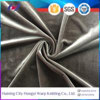 Buy cheap Two Way Stretch Heavy Super Soft Polyester Spandex Fabric Korean Velvet product