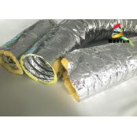 Buy cheap High Temperature HVAC 14 Inch Flex Heating Duct Insulation Wrap Single Layer Aluminum Foil product