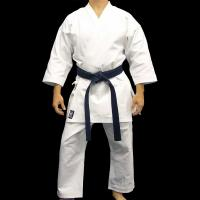China Custom Heavyweight White Karate Uniform Gi in Polyester Cotton on sale