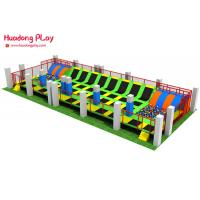 Buy cheap Large Size Trampoline Park Equipment , Professional Square Trampoline 29.8x10.9x3.4m Real case in Kazakhstan product