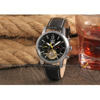 Buy cheap Jargar Genuine Leather Band Geatlemen Mens Automatic Watch Black Dial from wholesalers