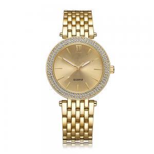 Buy cheap Special Luxury Brass Wrist Watch , 3 ATM Women'S Gold Watch With Diamonds product