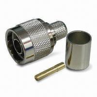 Buy cheap RF Coaxial Connector, Plug RP Crimp for LMR400, with Brass and Gold Pin product