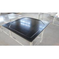 Quality Black  Epoxy Resin Worktop with Glare Surface and Marine Edge for sale