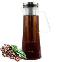 1.0L / 34oz Glass Cold Brew Coffee Maker 1000ml Capacity With 10.6 Inch Height