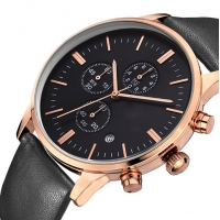 Buy cheap 40mm Japanese Movement Quartz Leather Band Watches For Young Men product