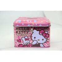 Pink Hello Kitty Kids Gift Candy Tin Box With Hinged Lid Recycled