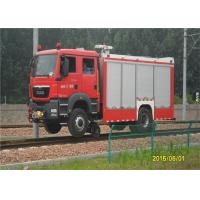 Buy cheap 2 Seats Fire Fighting Truck Elkhart Monitor Road - Rail Convertible Vehicle product