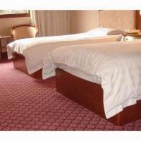 China White poly-cotton bed linen, measures 100x63x20cm, suitable for hotel use on sale
