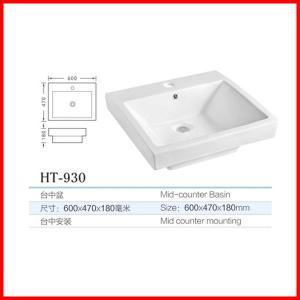 articles sanitaires de maisons d'évier moderne de salle de bains au-dessus de bassin de compteur