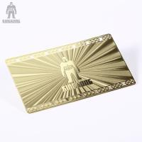 Innovative Brass Personal Metallic Gold Business Cards Different Pattern Option