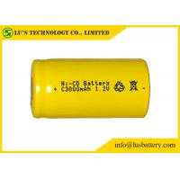 China Customized Color NICD Nickel Cadmium Rechargeable Battery 1.2V C3000mah on sale