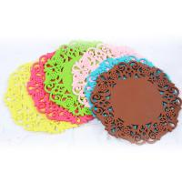 Buy cheap Red color elegant die cut tea cup coaster on hot sale product