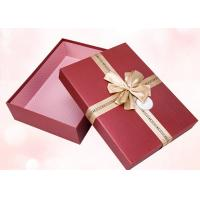 Quality Red Retangular Box Printed Packaging Boxes With Glossy Lamination for sale