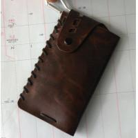 Buy cheap Outdoor Leather Sleeve Pouch Bag Case for Mobile with Hook, Sealed with Rope and Snap product