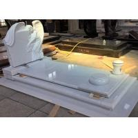 Buy cheap White Pearl Monument Grave Markers , Marble Sketch Simple Headstones For Graves product