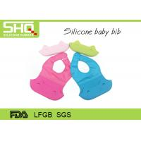 China New design baby products waterproof silicone foldable baby bib on sale