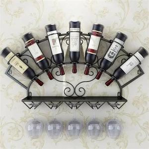 China Stemware Metal Wall Mounted Wine Glass Rack , Trendy 7 Bottle Wine Rack on sale