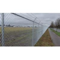 Buy cheap 4mm PVC Coated Galvanized Chain Link Fence System Airport Fence 3m High product