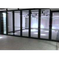Quality Soundproof Movable Glass Wall With Top&bottom Retractable Seal For Library and for sale