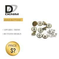 Buy cheap Fashion Round Denim Jacket Buttons Silver & Brass Rivet For Garments product
