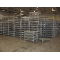 Industrial Stacking Containers : Stacking racks containers wire mesh basket steel container