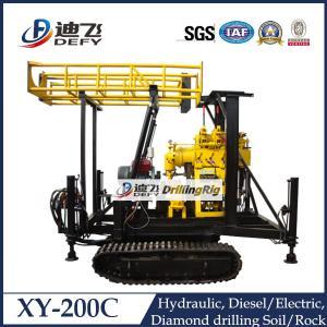 Buy cheap La chenille du fabricant XY-200C a monté l'installation de foreuse de puits d'eau avec des trépans à diamants product