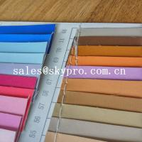 China Fashion design pvc synthetic leather pu coated leather with backing fabric on sale