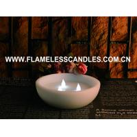 CE / ROHS Flameless LED Pillar Candles , Real  Wax  Floating LED Candle With 3 LEDs