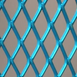 Buy cheap 青いポリ塩化ビニールのコーティングは装飾のための金属の網、0.5mm - 8mmの厚さを拡大しました product