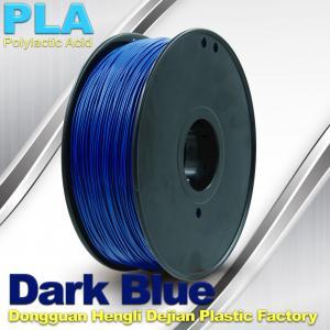 Buy cheap Escuro - filamento azul da impressora do PLA 3D com 1KG/rolo, bom desempenho da galvanização product